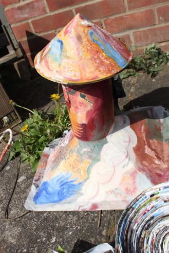 Painted-zinc-chimney-lampshade