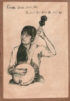 Karen Dalton with Banjo