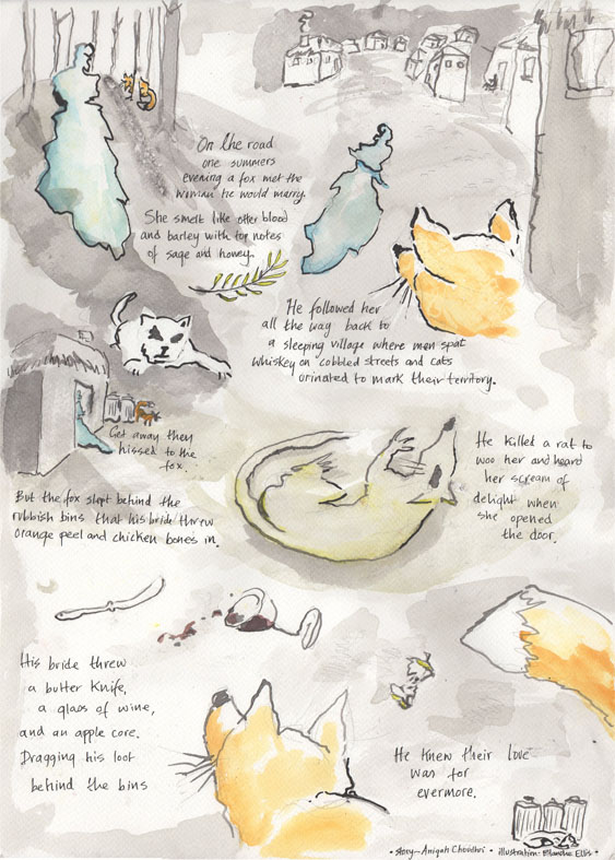 'The Fox and the Woman' by Aniqah Choudhri  - illustrated by Blanche Ellis