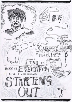 Neil Gaiman Speech - 'Make Good Art' - Sketchnotes 1