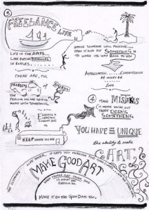 Neil Gaiman Speech - 'Make Good Art' - Sketchnotes 3