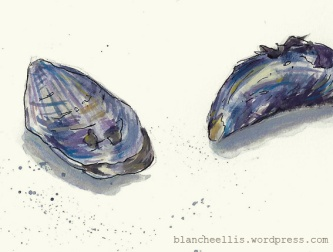 Mussels in Blue (detail) '13