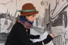 working on piece - caravanserai - blanche ellis