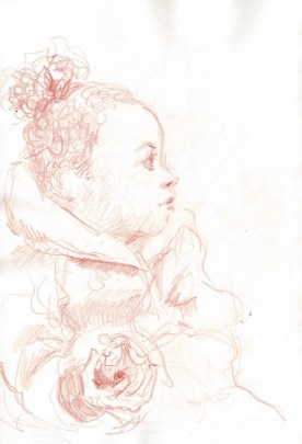 Red Chalk - Child with Apple on Northern Line