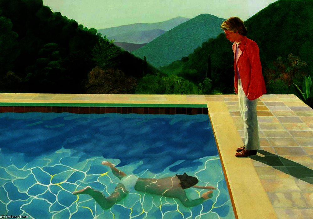 DavidHockney-PortraitofanArtistPoolwithTwoFigures. - DARK bluejpg