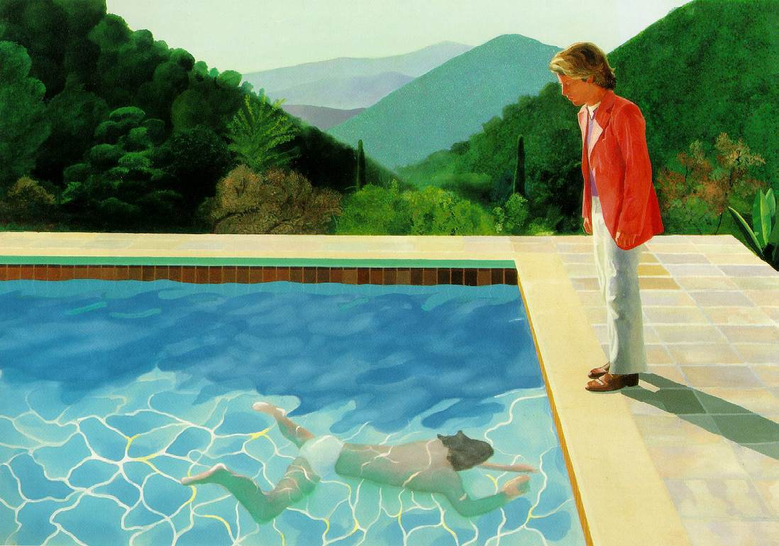 DavidHockney-PortraitofanArtistPoolwithTwoFigures. - light