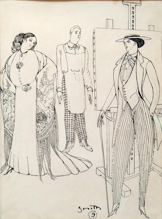 figures-ismael-smith-i-mari-1909-fundacio-palau