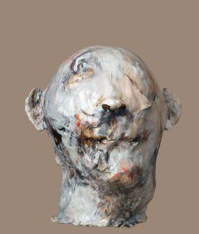 lita cabellut ceramic head front