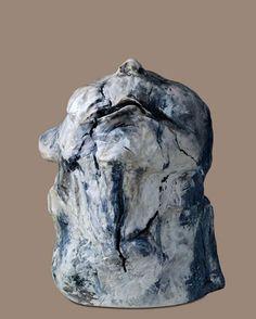 lita cabellut ceramic head looking up