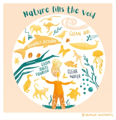 Nature Fills The Void @Blancheillustrates